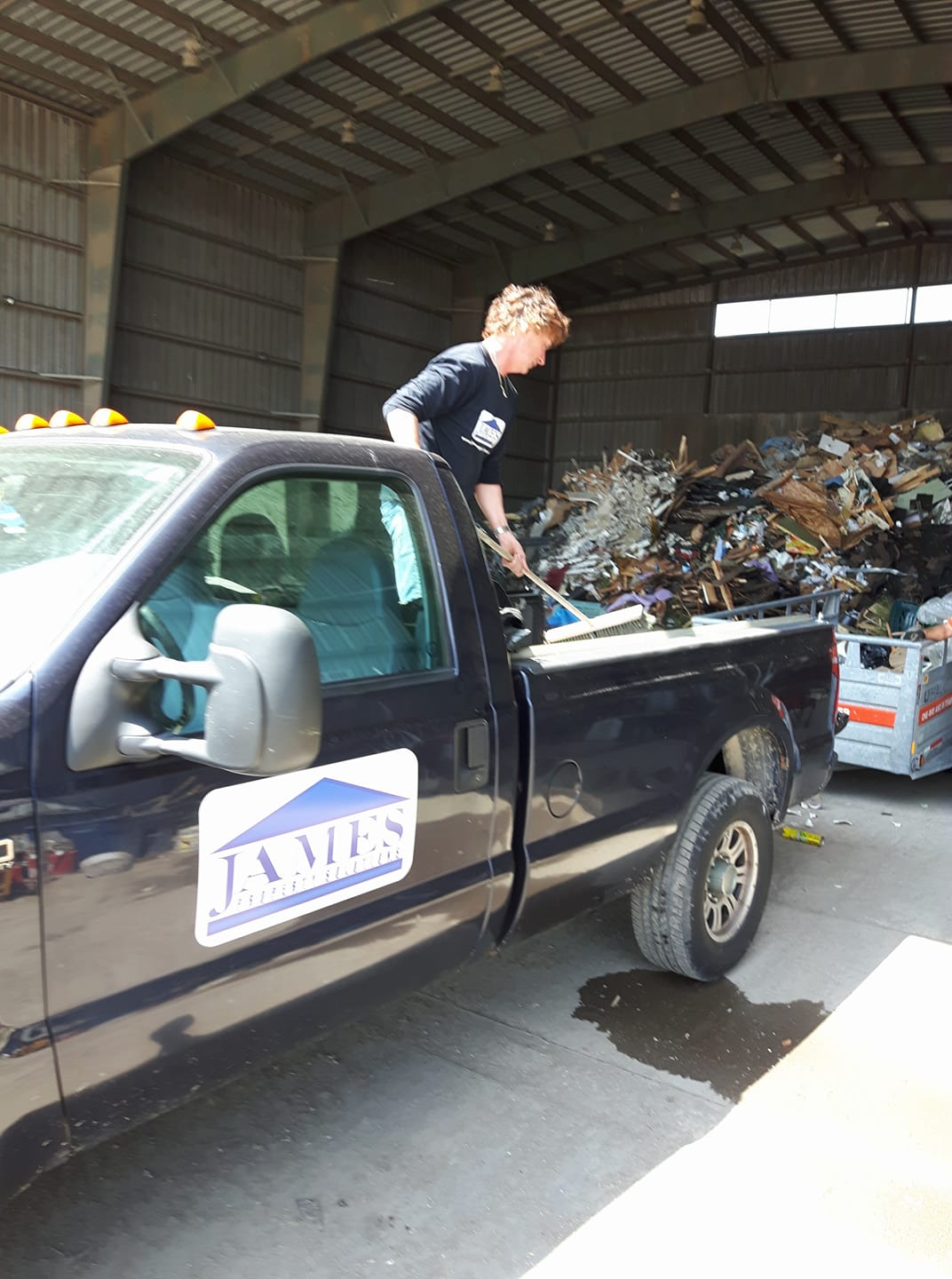 After home cleaning, we often end up doing a junk removal trip to the dump.